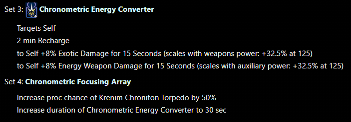 Chronometric Energy Convertor